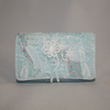 Patchwork Coin Card Purse - embroidered in white
