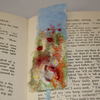 Harvest poppies - Embroidered and felted bookmark