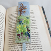 Bookmark Spring garden embroidered and felted
