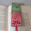 Poppies Bookmark - embroidered and painted .