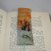 Winter Sunset - Embroidered and felted bookmark
