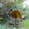 Stained Glass Garden Mobile - Orange