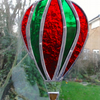 Stained Glass Hot Air Balloon Suncatcher - Red and Green