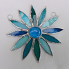 Stained Glass Daisy Suncatcher - Turquoise