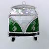 Stained Glass Camper Van Suncatcher - Green