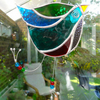 Stained Glass Funky Bird Suncatcher  - Multi Coloured