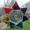 Stained Glass Chakra Suncatcher
