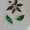 Stained Glass Flower Suncatcher - Purple