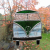 Stained Glass Camper Van Suncatcher - Green and White