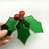 Stained Glass Holly and Berry Suncatcher - To Order - Handmade Decoration