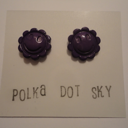 Purple Smiley Face Earrings