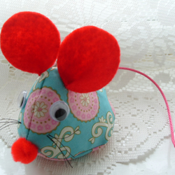 Ruby Red Ears Fabric Mouse