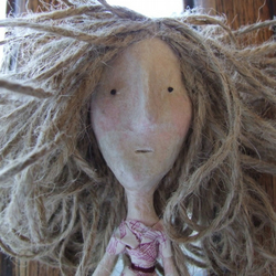 Meredith a handmade Liberty puppet doll