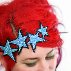 Glam stars in blue headband