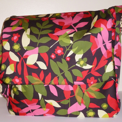 Funky Floral Messenger Bag
