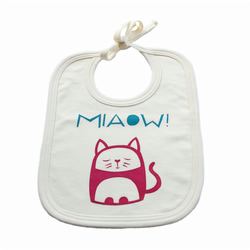 Contented Cat organic cotton bib