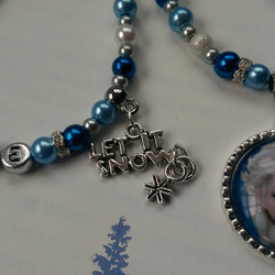 Frozen personalised Elsa bracelet and matching necklace.