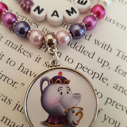 Personalised Mrs Potts and Chip gift set.