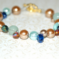 Sale Bronze & Blue Bracelet