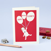 Personalised Red Birthday Card