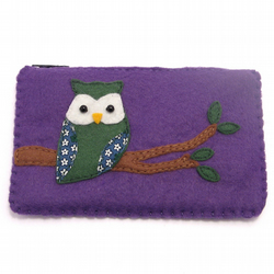 Handmade Owl Purse