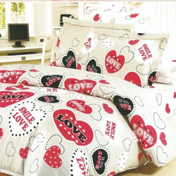 Love Heart Teenage Bedding Set Double 7 piece set
