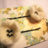 White Flower Hair slides
