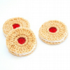 jammie dodger brooch pin