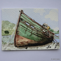 "ACEO ""Rusty old Boat"""