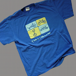 Recumbent, tandem, Unicycle, road bike themed and fun cyclists t-shirt