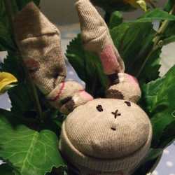 Norman the Sock Bunny
