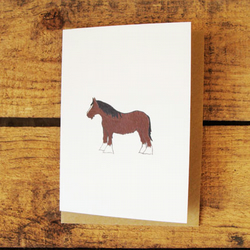 Shire Horse Card