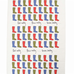 Wellies Tea Towel
