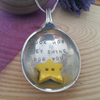 Upcycled Silver Plated Stamped Star Necklace