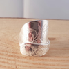 Sterling Silver Upcycled Engraved Bird Wrap Spoon Ring