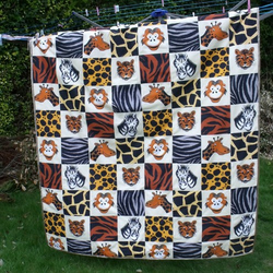 Keep Me Warm Zoo Animals Single Quilt