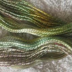 Hand Dyed, Three Thread Selection, Green, Sage, Old Rose