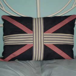 Denim Union Jack Cushion