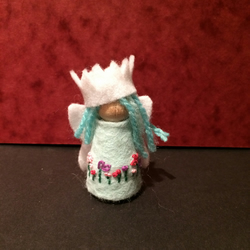 Waldorf inspired fairy princess peg doll