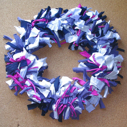 Traditional Rag Wreath - Nautical