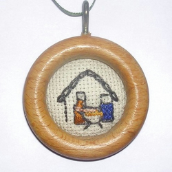 Embroidered Christmas Decorations ~ Nativity