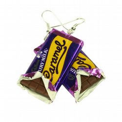 Chocolate Bar earrings