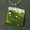 Sheep Landscape Necklace