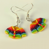 Rainbow Cardigan earrings from Cardigan
