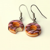 Fancy Chocolate Doughnut earrings