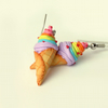 Unicorn Poop Ice cream earrings