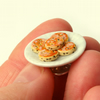 Plate of Welsh cakes Pin Brooch