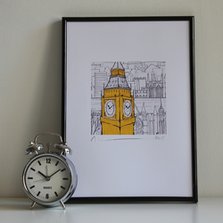 SALE !! SIGNED PRINT 'Big Ben'