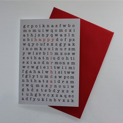 Word Puzzle Birthday Card