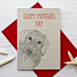 Wire Haired Dachshund Dog Mothers Day Card